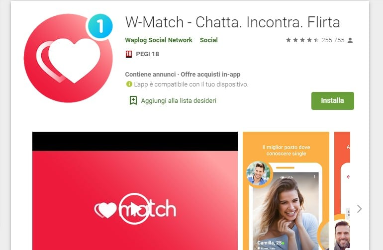 W-Match app Android