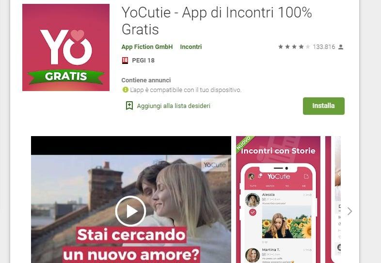 YoCutie app di incontri